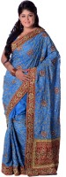 Ambition Sarees Self Design Embroidered Embellished Silk Sari - SARDZDRXGGBH2HZB