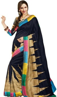 Preet Creations Printed Fashion Art Silk Sari