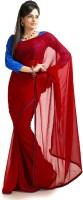 Designersareez Solid Embroidered Chiffon Sari - SARDWS83H3Z25J6S