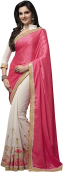 Manvaa Self Design Fashion Viscose Sari