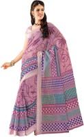 Sudarshan Silks Striped Embellished Cotton Sari - SARDVAF5S24FUJGH