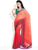 Soch Self Design Embroidered Georgette Sari