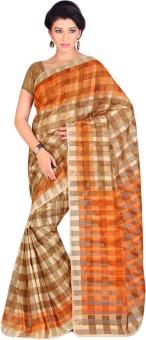 Shree Vaishnavi Printed, Self Design Bollywood Handloom Cotton, Brasso Sari