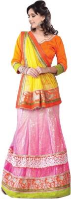 Triveni Solid Lehenga Saree Net Sari