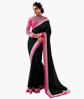 Bollywood Designer Self Design Bollywood Chiffon Sari