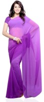 Dealtz Fashion Solid Georgette Sari