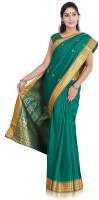 Indusdiva Solid Embellished Art Silk Sari