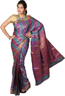 Mimosa Self Design Kanjivaram Handloom Art Silk Sari - SARE4B2NW9928KHU