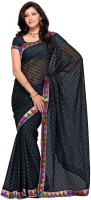 Mehak Geometric Print Jacquard Sari
