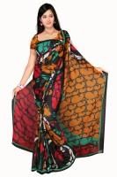 Khazana Bazar Floral Print Georgette Sari