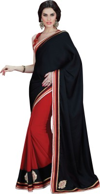 Triveni Solid Fashion Georgette Sari