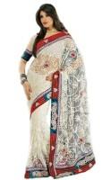 Bhavi Floral Print Net Sari