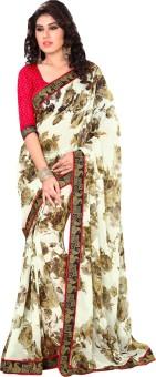 Wavelon Designer Sarees Embriodered Fashion Chiffon Sari