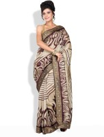 Shreejee Geometric Print, Floral Print Synthetic Sari