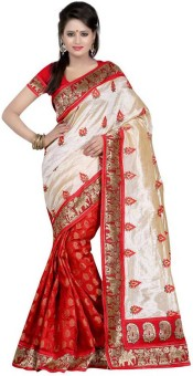MatiCreation Self Design Fashion Handloom Printed Silk Sari