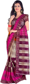 Shree Vaishnavi Printed Bollywood Handloom Cotton, Brasso Sari