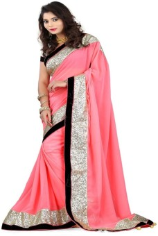 Shrisarees Embriodered, Self Design Bollywood Handloom Pure Georgette, Pure Chiffon, Synthetic, Synthetic Fabric, Art Silk, Synthetic Georgette, Georgette Sari
