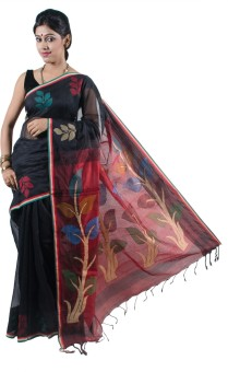 Satarupa Self Design Kanjivaram Handloom Silk Cotton Blend Sari
