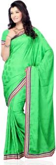 Diva Fashion Floral Print Embellished Jacquard Sari