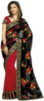 Fashionista Floral Print Embellished Georgette Sari
