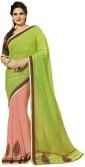 Aarti Saree Embriodered, Self Design Fashion Georgette, Jacquard Sari