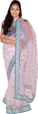 Saree Sparkle Self Design Net Sari
