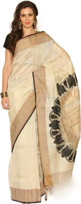 Rangoli Rangoli Self Design Fashion Silk Sari (Beige\/Sand\/Tan)