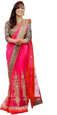 Meera Saree Self Design Bollywood Net Sari