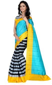 Glory Sarees Geometric Print Bhagalpuri Handloom Art Silk Sari