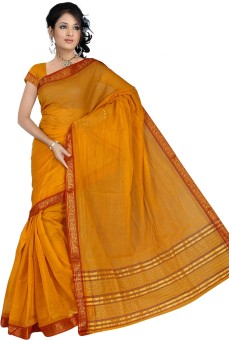 Pavechas Solid Cotton Sari: Sari