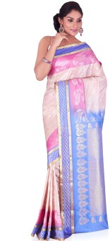 Annapurna Silks Self Design Kanjivaram Handloom Art Silk Sari