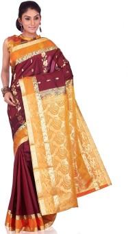 Annapurna Silks Floral Print Kanjivaram Handloom Art Silk Sari
