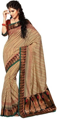 Aria Aria Striped Fashion Silk Sari (Multicolor)