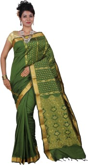 Tusk Self Design Kanjivaram Handloom Silk Sari