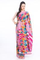 Delhi Seven Printed Crepe Sari