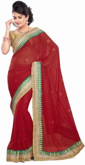 Nakhrali Designer Saree Embriodered Bollywood Tissue Sari