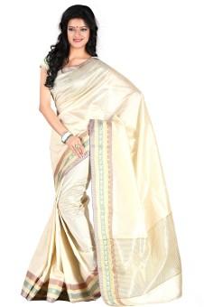 Roopkala Silks Solid Fashion Tussar Silk Sari