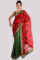 Aparnaa Printed Embroidered Embellished Viscose Sari