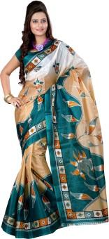 Kajal Sarees Printed Bollywood Machine Art Silk Sari