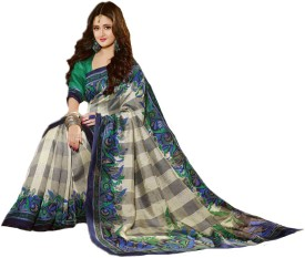 Sun Merchandises Printed Bhagalpuri Dupion Silk Sari