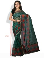 Shreejee Polka Print Synthetic Sari