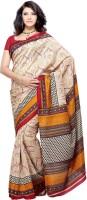 Priyankas Printed Brasso, Jacquard Sari