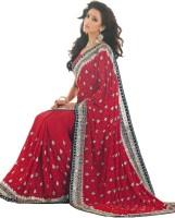 Samyakk Floral Print Crepe Sari