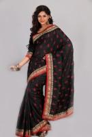 Aparnaa Printed Embroidered Embellished Art Silk Sari