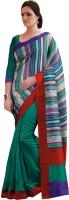 Saree Swarg Geometric Print Art Silk Sari