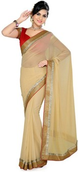 Sareeka Sarees Plain Bollywood Georgette Sari