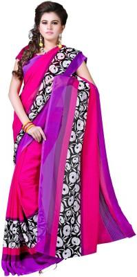 Sweethearts Fashion Sweethearts Fashion Printed Daily Wear Chiffon Sari (Multicolor)