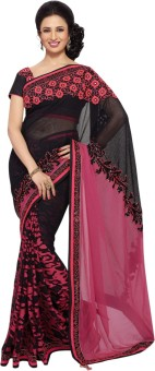 Triveni Self Design Fashion Cotton, Net, Georgette, Brasso Sari