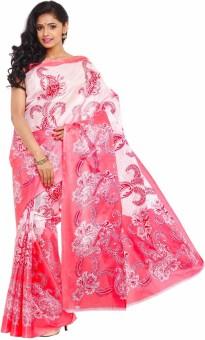Kajal Sarees Floral Print Fashion Art Silk Sari
