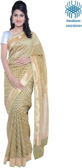Bazardiha Hathkargha Handlooms Self Design Banarasi Cotton, Silk Sari